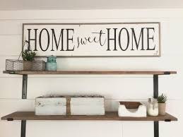 Home Decor Signs Shabby Chic Home Sweet Home 1 U0027x4 U0027 Sign Distressed Shabby Chic Wooden Sign