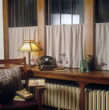 curtains in the arts u0026 crafts style u2014 ann wallace for prairie textiles