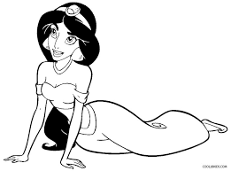 free printable coloring princess jasmine coloring pages 48