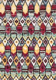 Modern Ikat Rug Floors Rugs Rugsville Ikat Multi Sari Silk Ikat Rug