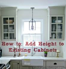 adding cabinets on top of existing cabinets amanda rapp design add height to existing cabinets