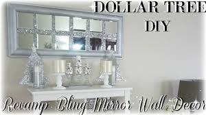 Home Mirror Decor Diy Bling Revamp Mirror Wall Decor Diy Dollar Tree Mirror Wall
