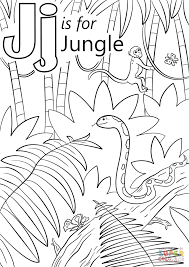 letter j is for jungle coloring page free printable coloring pages