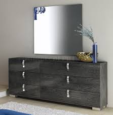 Grey Gloss Bedroom Furniture Bedroom In High Gloss Grey By At Home Usa W Options