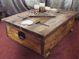Chest Coffee Table Coffee Table Storage Box Wooden Plank Rustic Blanket Chest