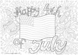 fourth july colouring pages