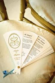 fan wedding program kits diy fan program kits from cherish paperie diy wedding program