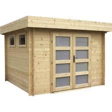 cabane jardin abri de jardin bois kivik 6 69 m ep 28 mm leroy merlin