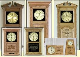personalized clocks with pictures personalized custom text clocks awards clock retirement wood