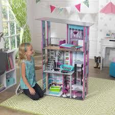 Dollhouse Toddler Bed Decor Interesting Magnolia Kidkraft Dollhouse With Cozy Berber Carpet