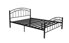 sturdy metal queen bed frame black white