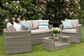 Grand Bahia  Seater Rattan Garden Outdoor Furniture Sofa Set Natural - Patio furniture sofa sets