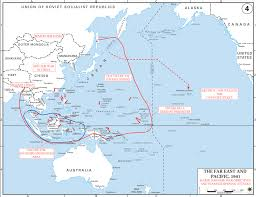 Ww2 Europe Map by Map Of Wwii Japanese War Objectives 1941