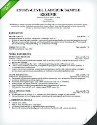 entry level position cover letter best general resume cover letter construction samples genius