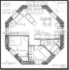 octagon home plans straw bale house plan 612 sq ft round