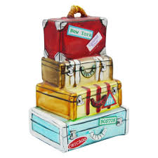 gg shop stacked suitcase ornament