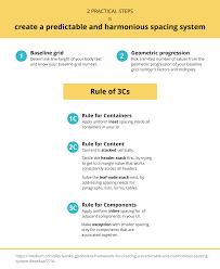 framework design a framework for creating a predictable u0026 harmonious spacing system