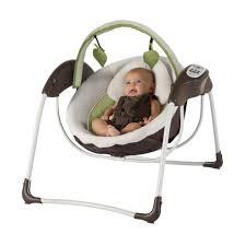 Swinging Baby Chairs Amazon Com Graco Glider Petite Lx Gliding Swing Go Green Baby