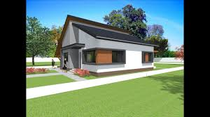 modern bungalow design house with 2 bedrooms 117 5 square meters