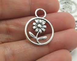Personalized Charms Bulk Flower Charm
