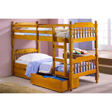 Spindle Bunk Bed Next Day Select Day Delivery - Pine bunk bed