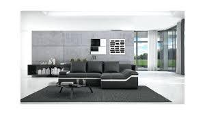 salon avec canapé noir viana canap d angle design cuir avec salon canap noir idees et