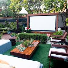 Backyard Movie Night Rental How Socal Designer Ryan Benoit Took A Hidden Concrete Property And