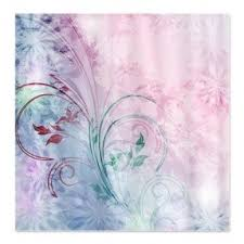 Pink Flower Shower Curtain Floral Shower Curtain Hooks Foter