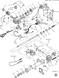 exploded view for the 1995 buick riviera tilt steering column