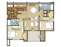 2 bedroom floor plans apartment 50 3d floor plans lay out designs for 2 bedroom house