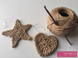 craftaholics anonymous crocheted jute ornaments