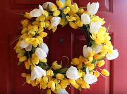 spring door wreaths diy spring flower door wreath diy video and tutorial