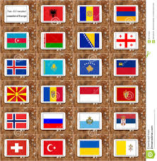 Flags Of Countries In Europe Non Eu Member Countries Flags Stock Illustration Image 66111622