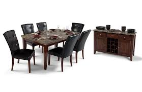 bobs furniture kitchen table set montibello 42x70 dining room collection bob s discount furniture