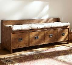 Wooden Bench With Cushion Wade Bench Cushion Pottery Barn
