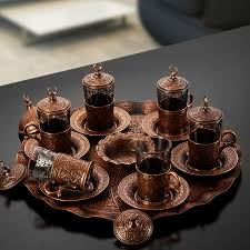 vintage tea set turkish vintage tea set for six with tray fairturk