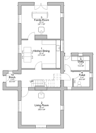 Traditional Floor Plan Caragh Traditional Irish Cottage House Plans Ground Floor Plan