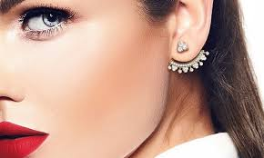 cuff earings pave cuff earrings groupon goods