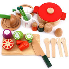 cutting u0026 cooking set wooden kitchen kids toy educational toy