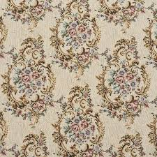 b773 burgundy green and blue floral tapestry upholstery fabric
