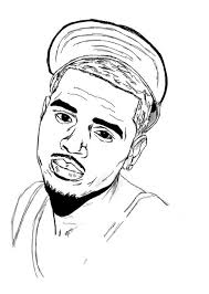 chris brown coloring pages regard inspire color