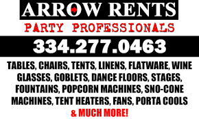 table and chair rentals near me arrow rents party professionals in montgomey alabama relylocal