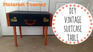 diy vintage suitcase table pinterest tuesday youtube