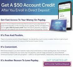 direct deposit card random news 50 for serve direct deposit load serve at family