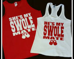 his and hers items swole mate etsy