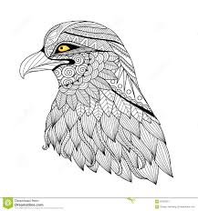 detail zentangle eagle stock vector image 60783557