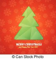 eps vectors of creative christmas tree card template curled