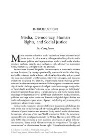 media and social justice springer