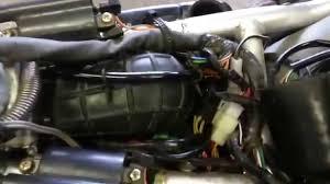 suzuki intruder 800 air filter removal youtube