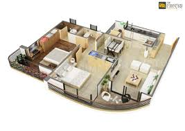 3d floor plan home office villa hotel rendering restaurant floor